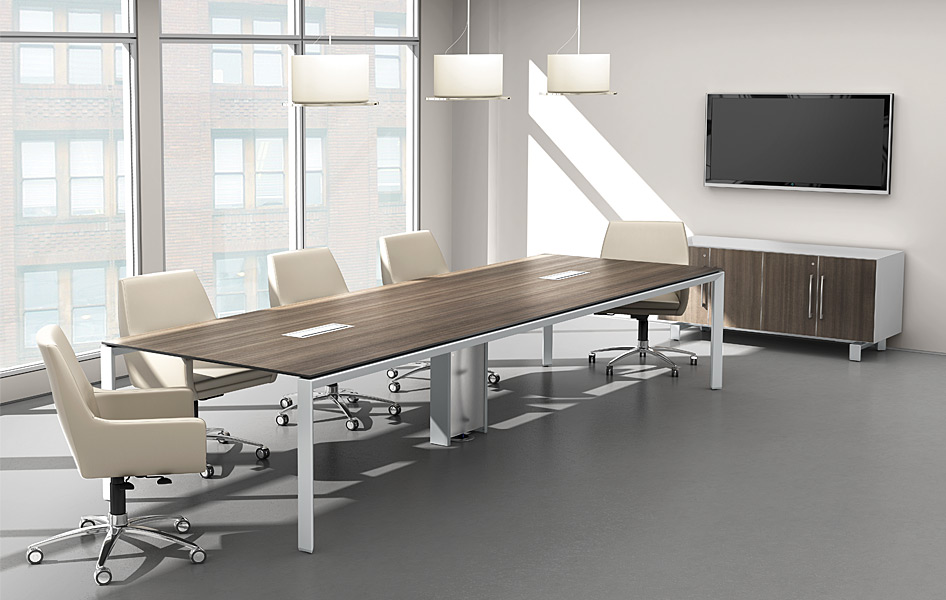 Modern Boardroom Essentials Modern Office Furniture - Gray conference table