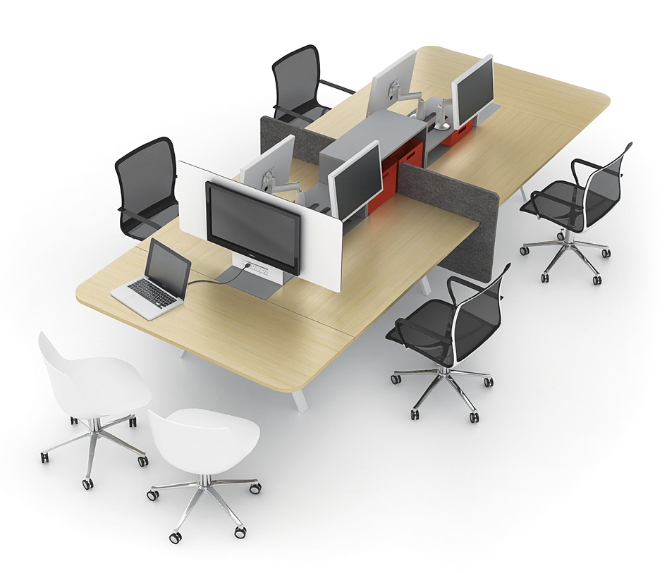 Modern office interiors out with the old in with the new for Modern office furniture pictures