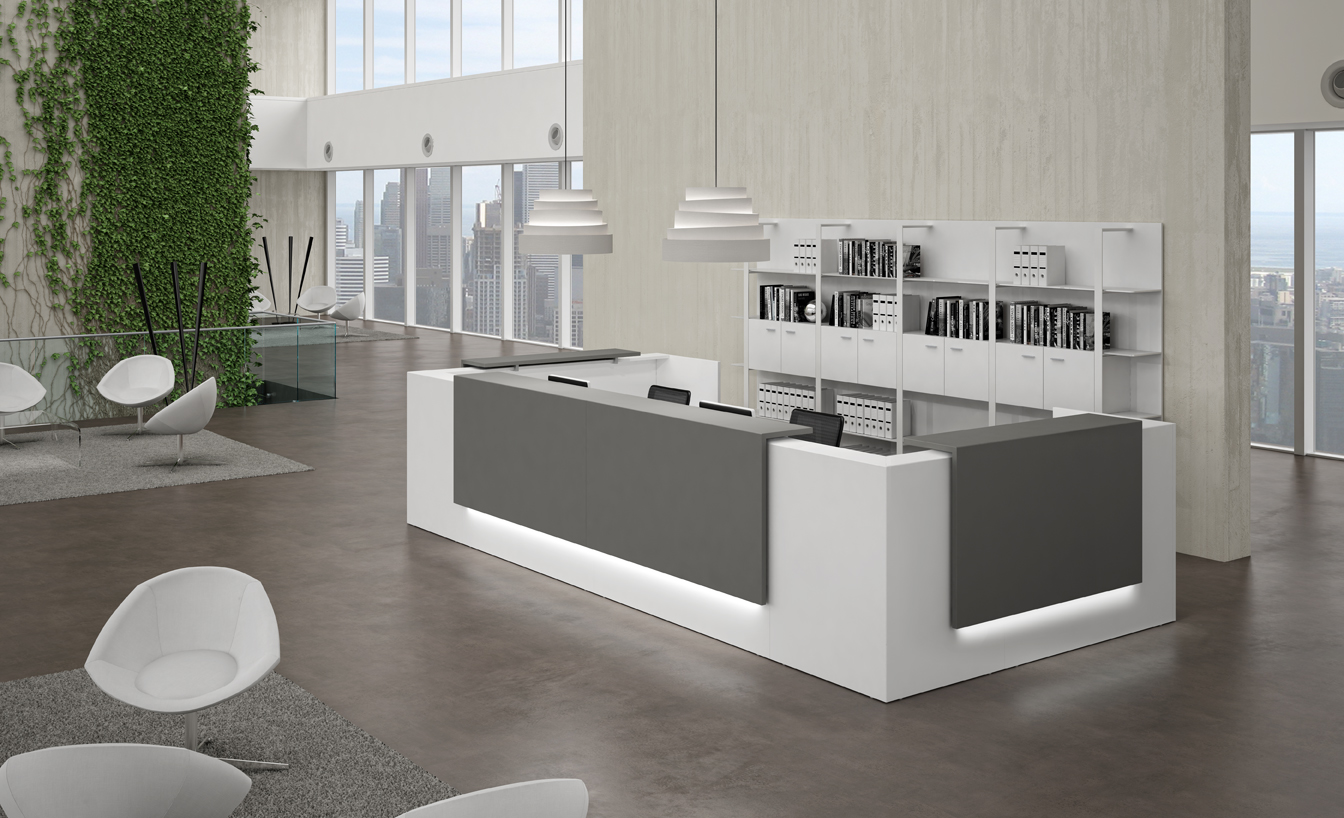 Modern reception desks first impressions are lasting - Evo bank oficinas ...