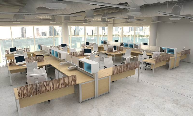 Design your modern office layout modern office furniture for Office desk layout ideas