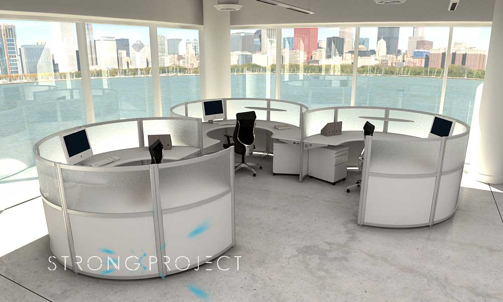 Office Furniture Layout Workspaces Desks