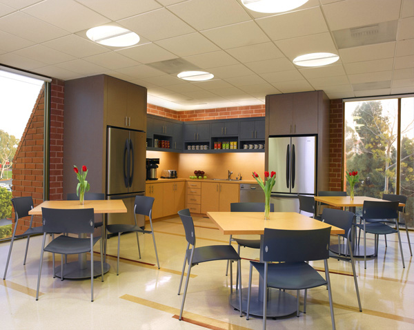 Employee break room ideas modern office furniture for Office lunch room design ideas