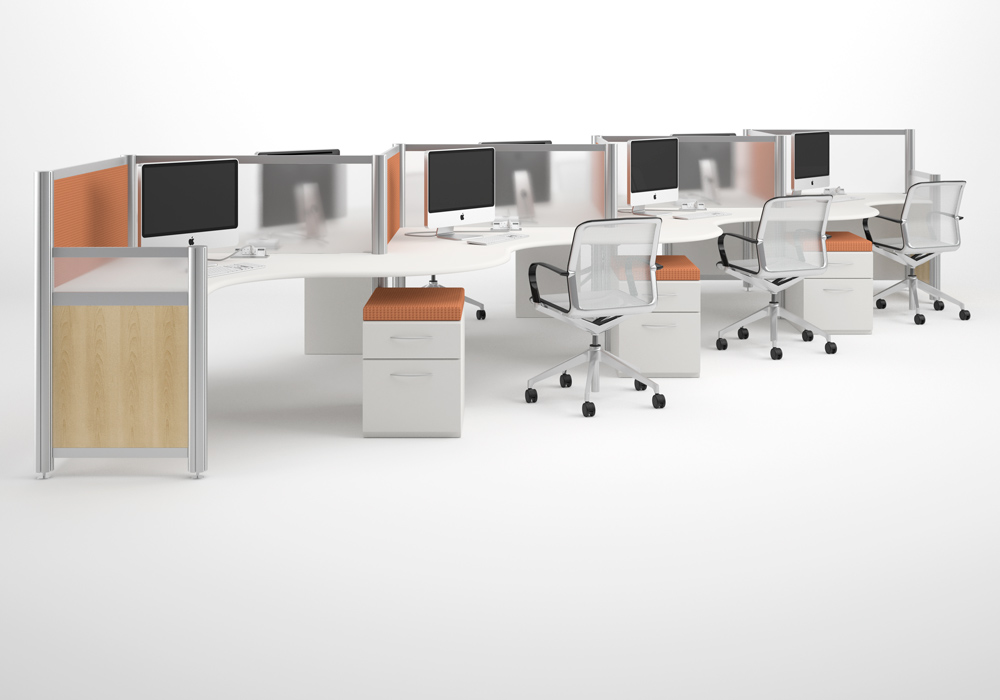 Modern workstations modular office furniture modern for Contemporary office furniture