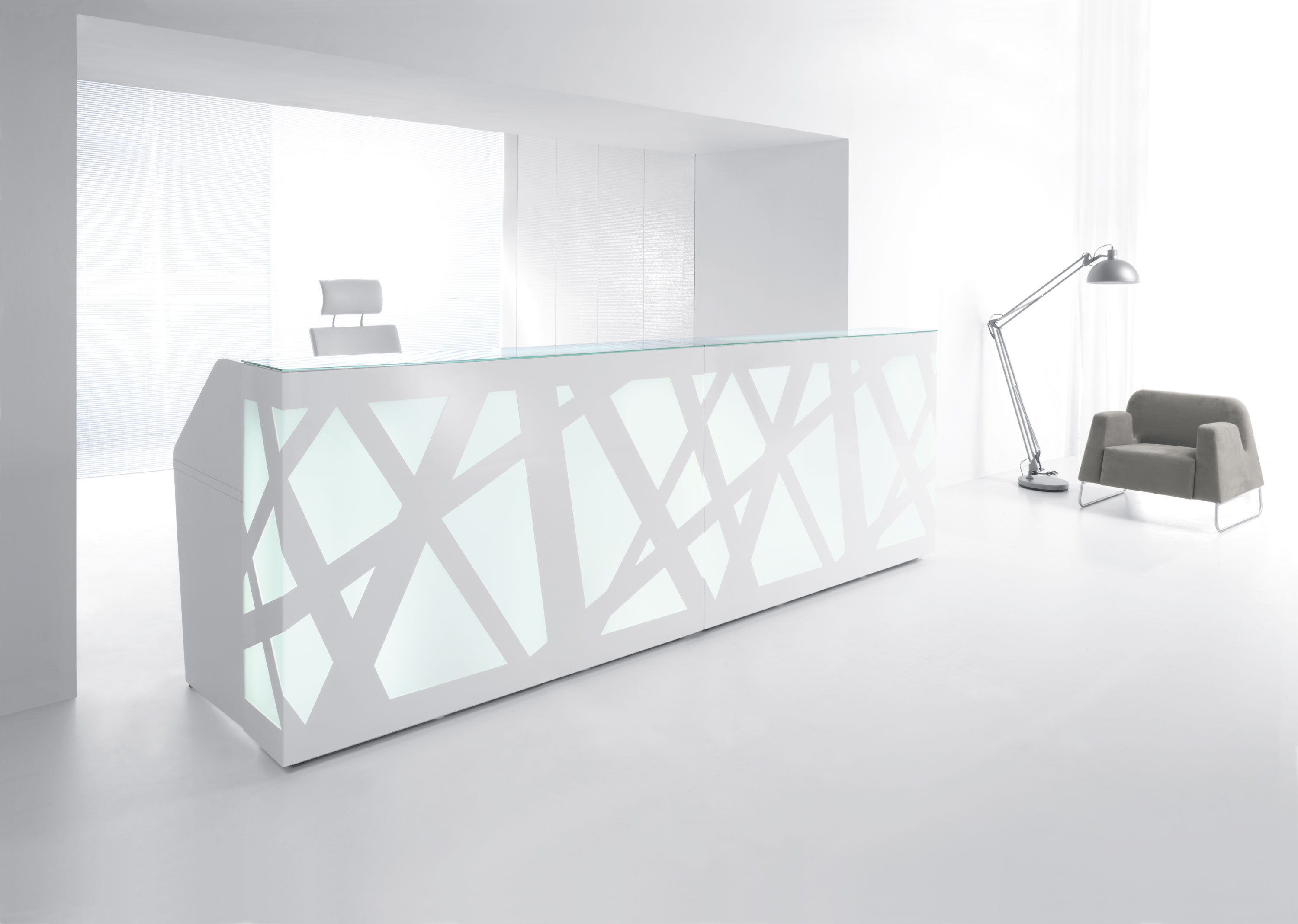 white modern office. White Modern Reception Desk Office A