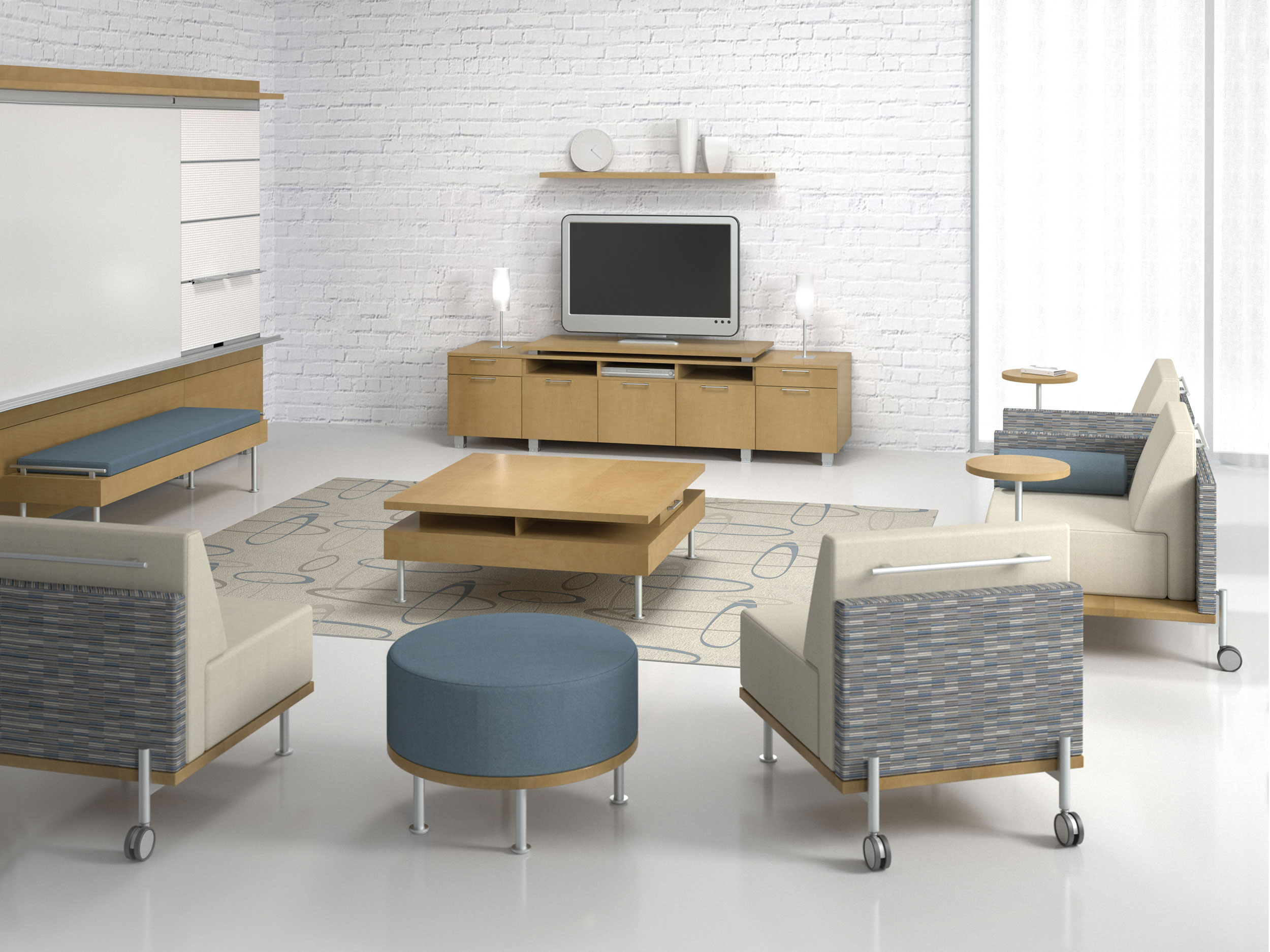 collaborative workspace – modern office furniture