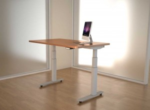 adjustable height desk - wood top