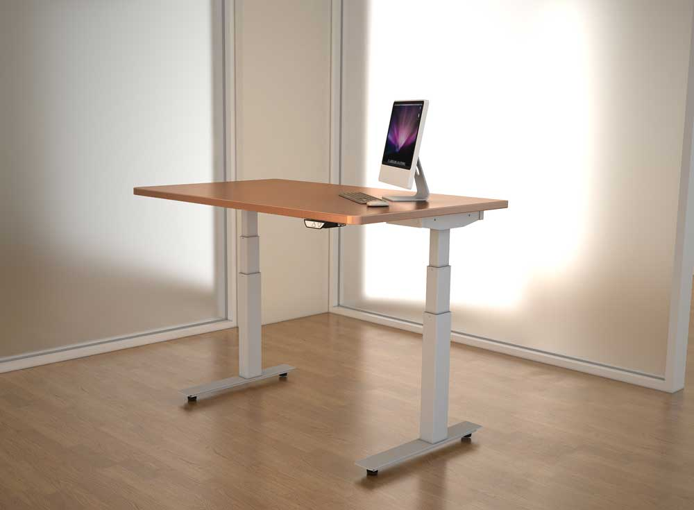 Delightful Adjustable Height Desk   Wood Top