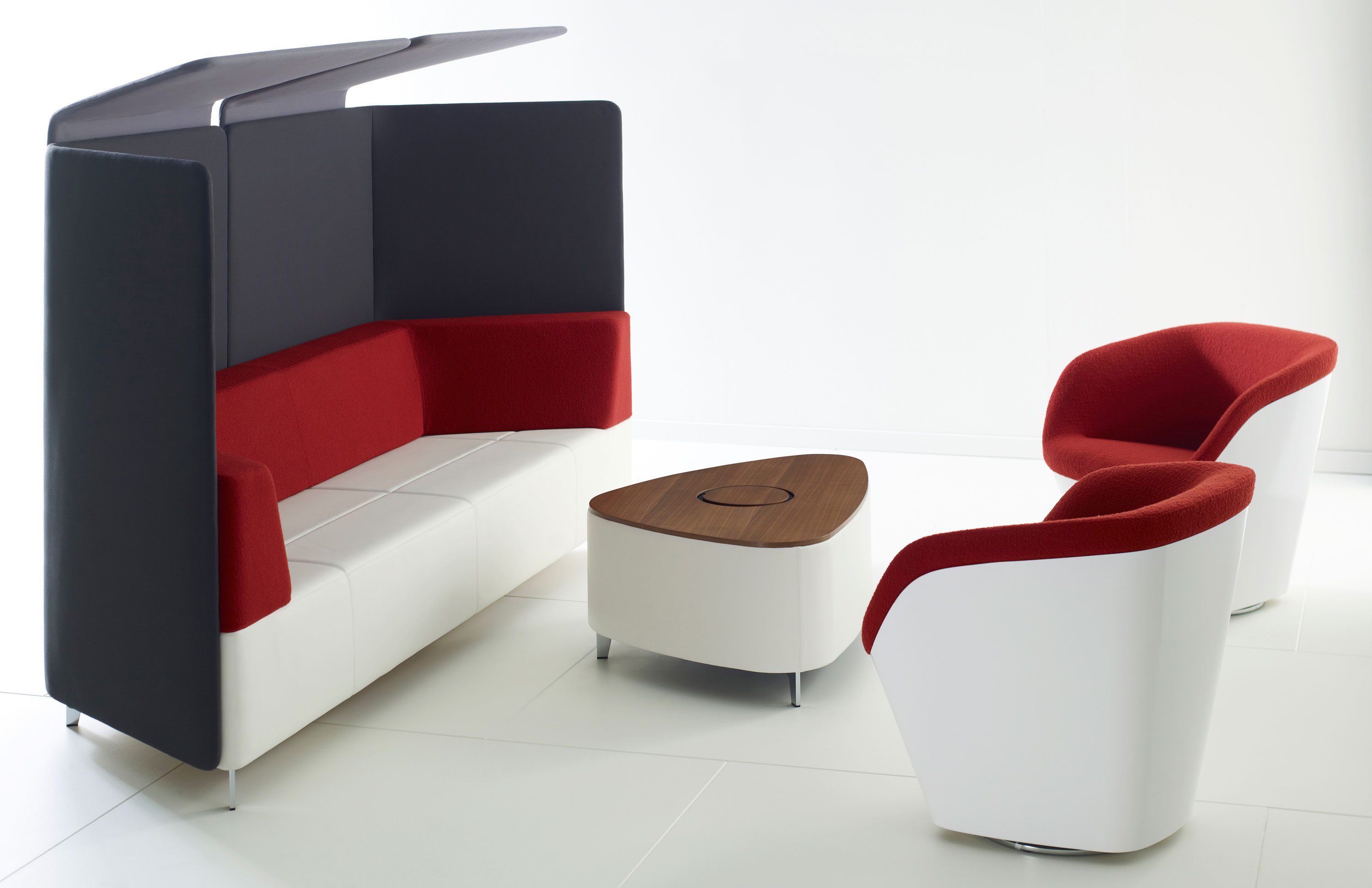 Acoustic furniture more privacy less noise modern office furniture - Office furnitur ...