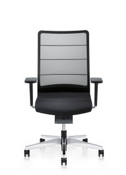 black rolling desk chair
