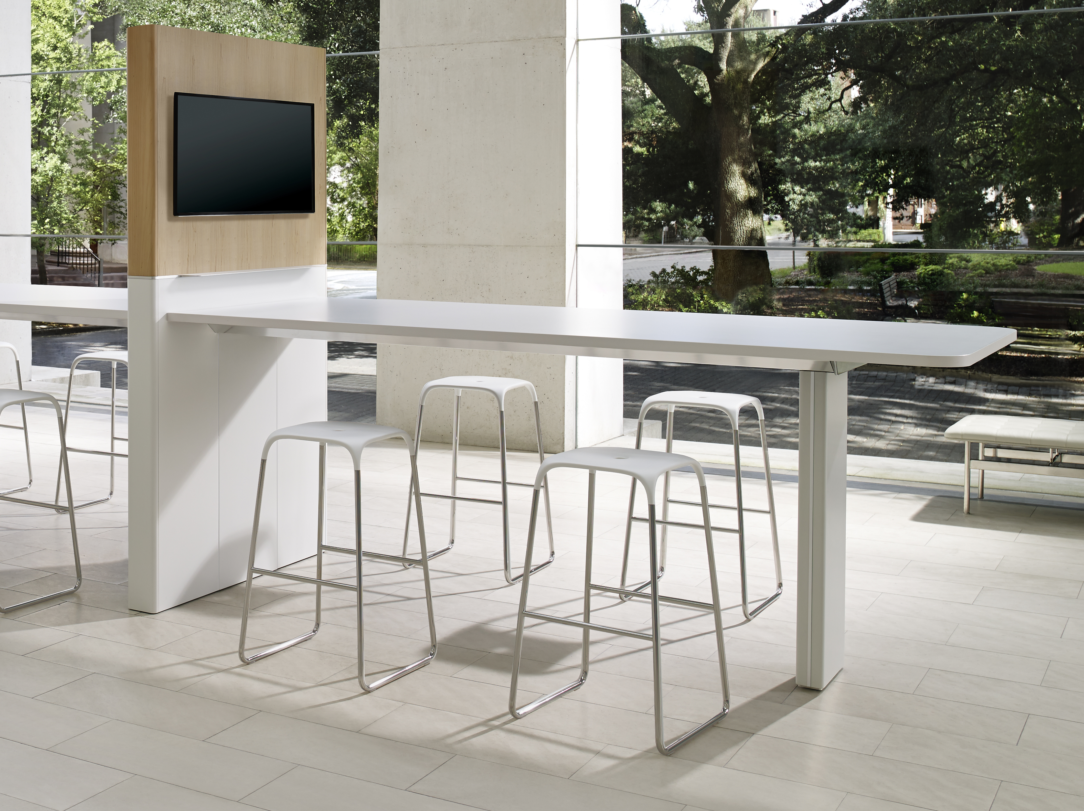 Impress Board Members With These Five Modern Conference Room Designs - Bar height conference table