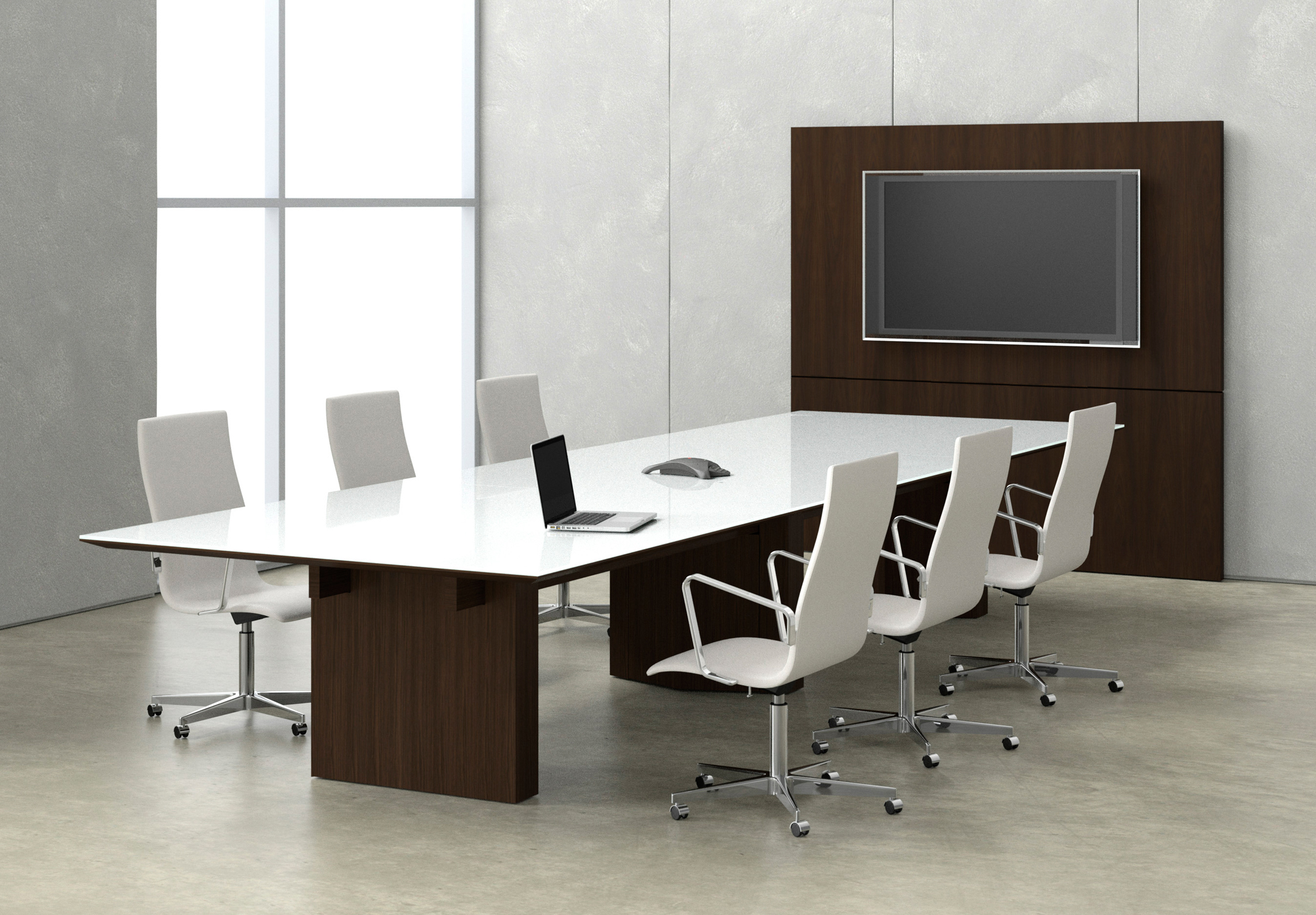 Impress Board Members With These Five Modern Conference Room Designs - Glass top conference room table