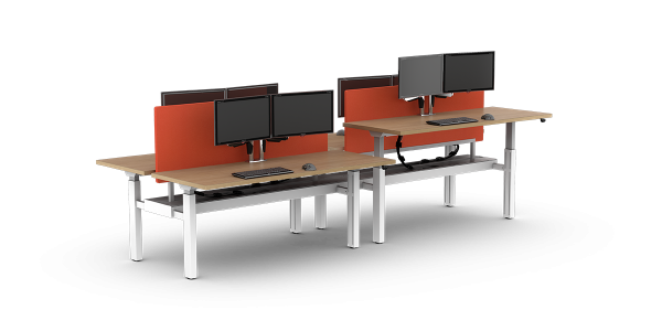 Make sure your standing height desk works for you with smart acoustic panels to soften noise and reduce distractions. StrongProject - modern commercial office furniture design