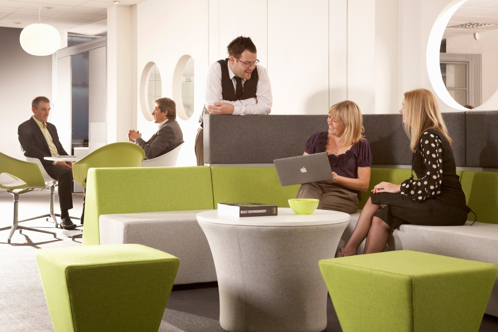 Use collaborative office furniture intelligently in design for personality types.