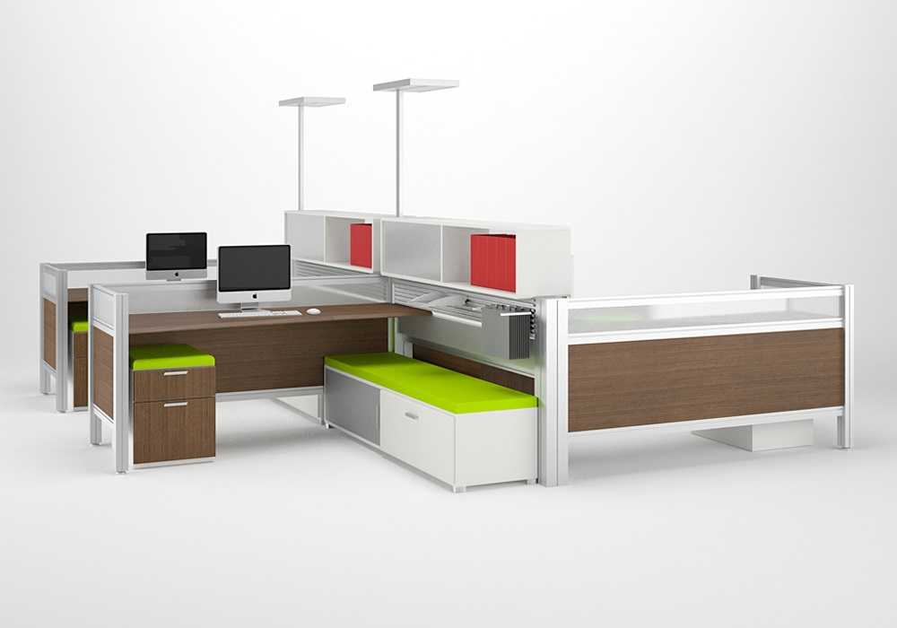 use modular office furniture in open office layouts for flexibility and budgets