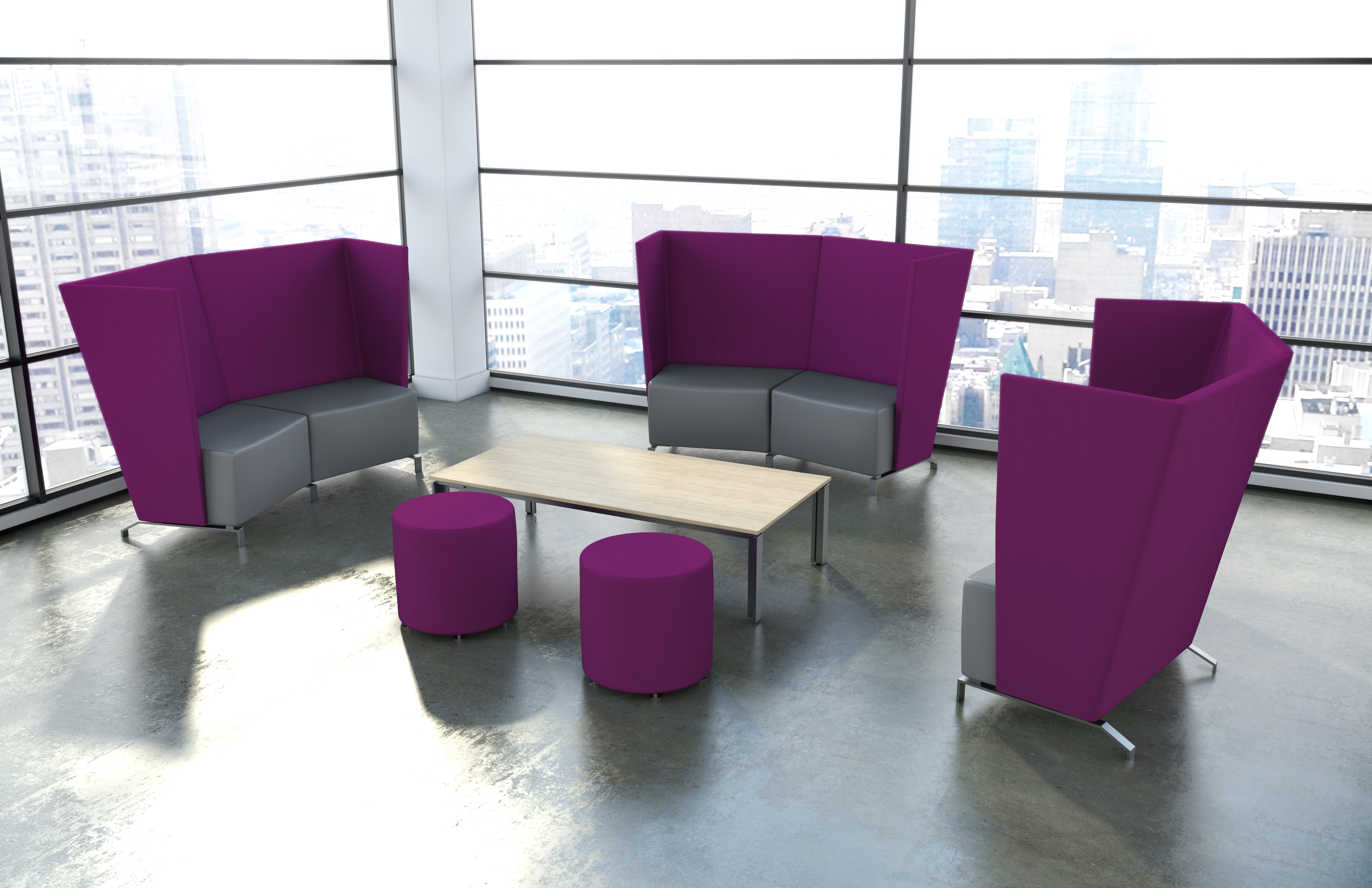 exciting colorful modern furniture | Office Color Trends for Fall 2016 – Modern Office Furniture