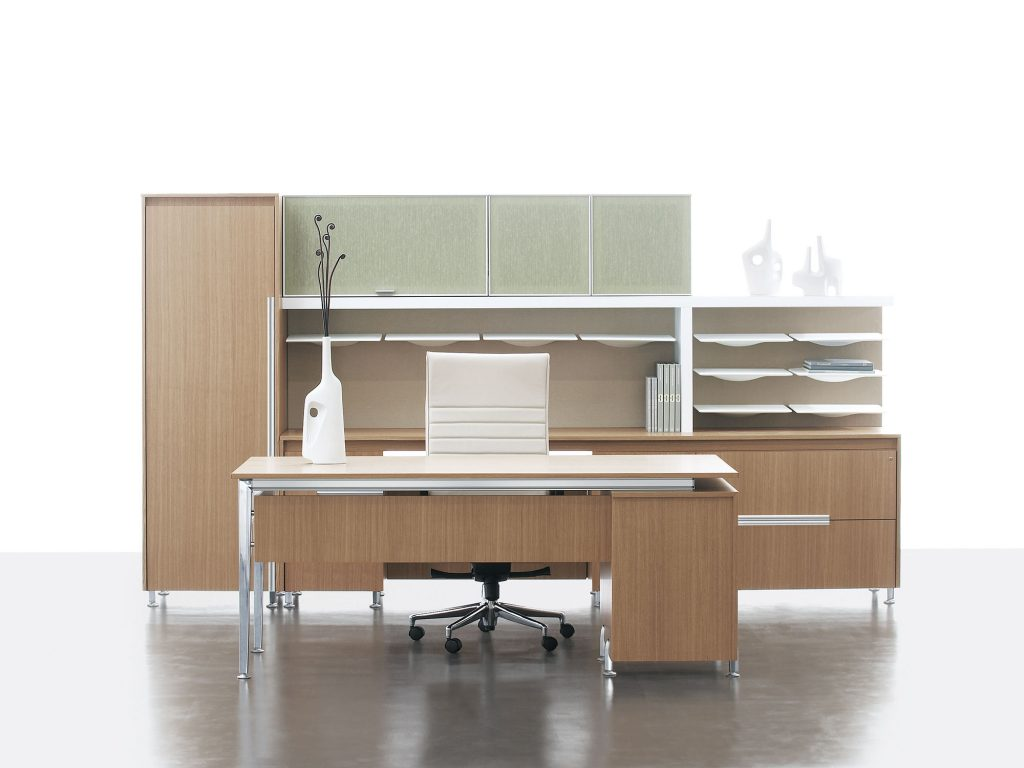 Assess your filing and storage space and give it a sleek makeover