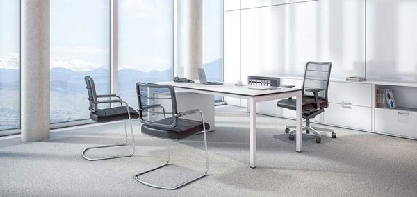 For business meetings, a simple mesh chair is the perfect fit.