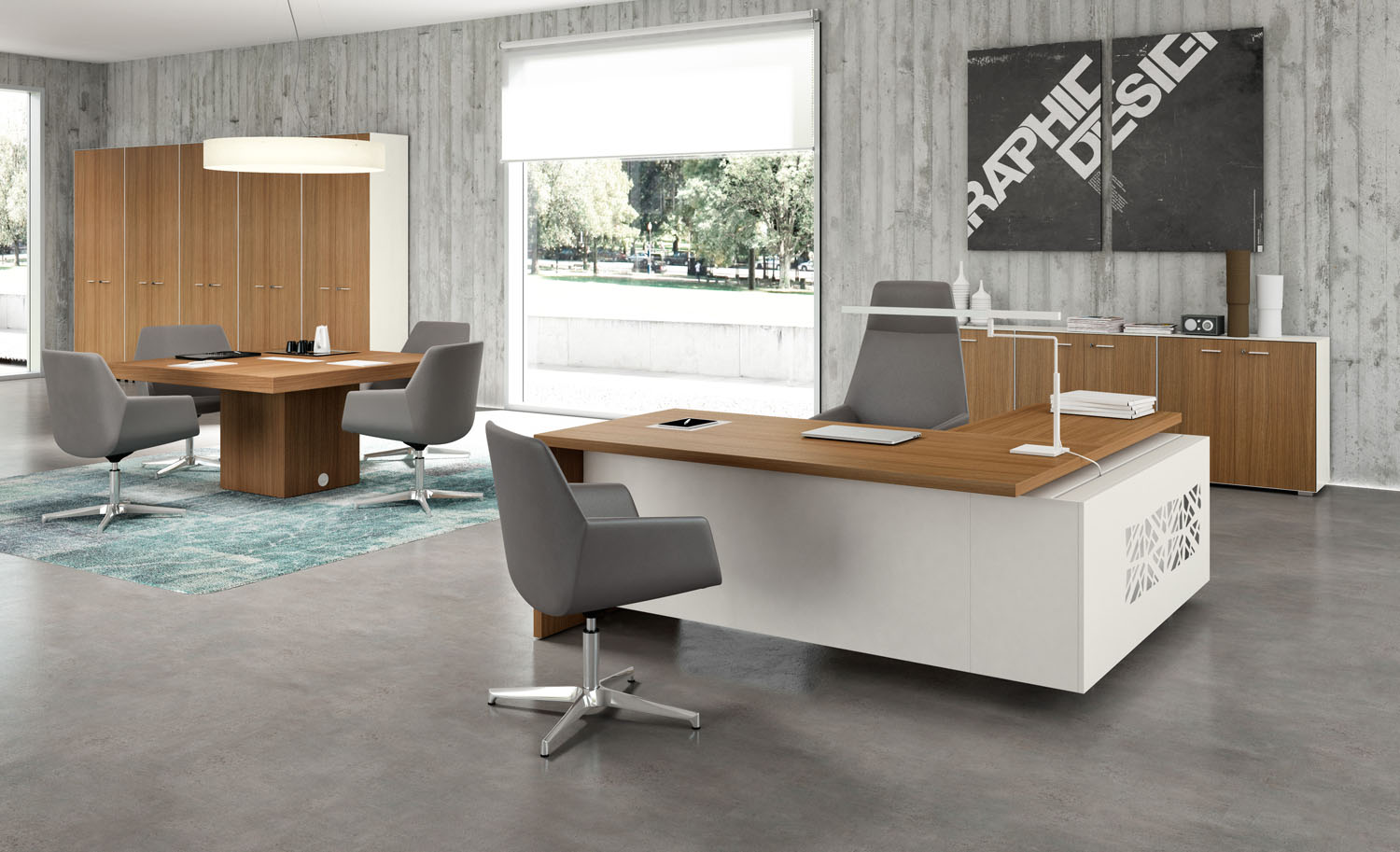 A contemporary office desk doesn't need a lot of bells and whistles if it's the perfect fit for your personality.