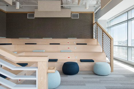 What S Hot Bleacher Style Seating Modern Office Furniture