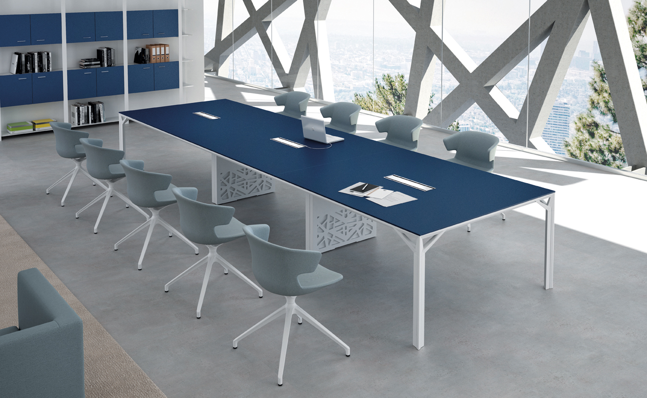 Anatomy Of A Great Conference Table Modern Office Furniture - Blue conference table