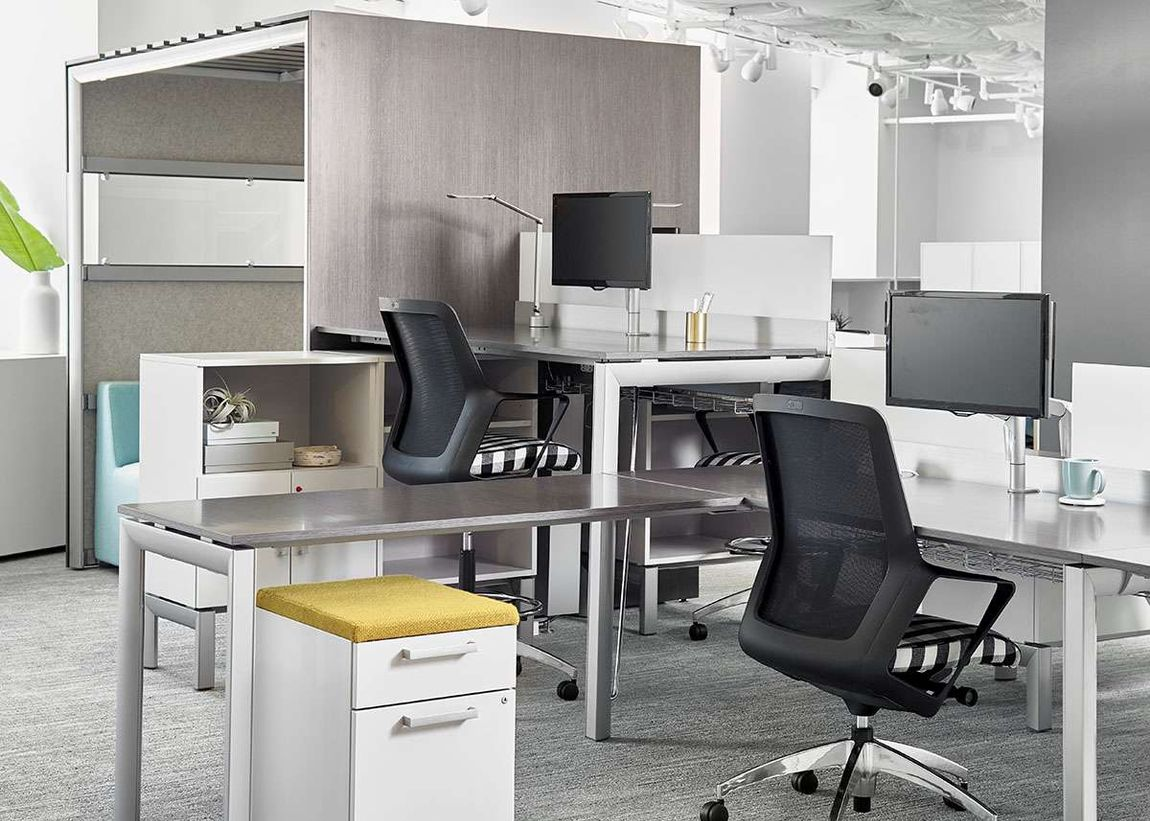 Ergonomic office chairs at ergonomic workstation