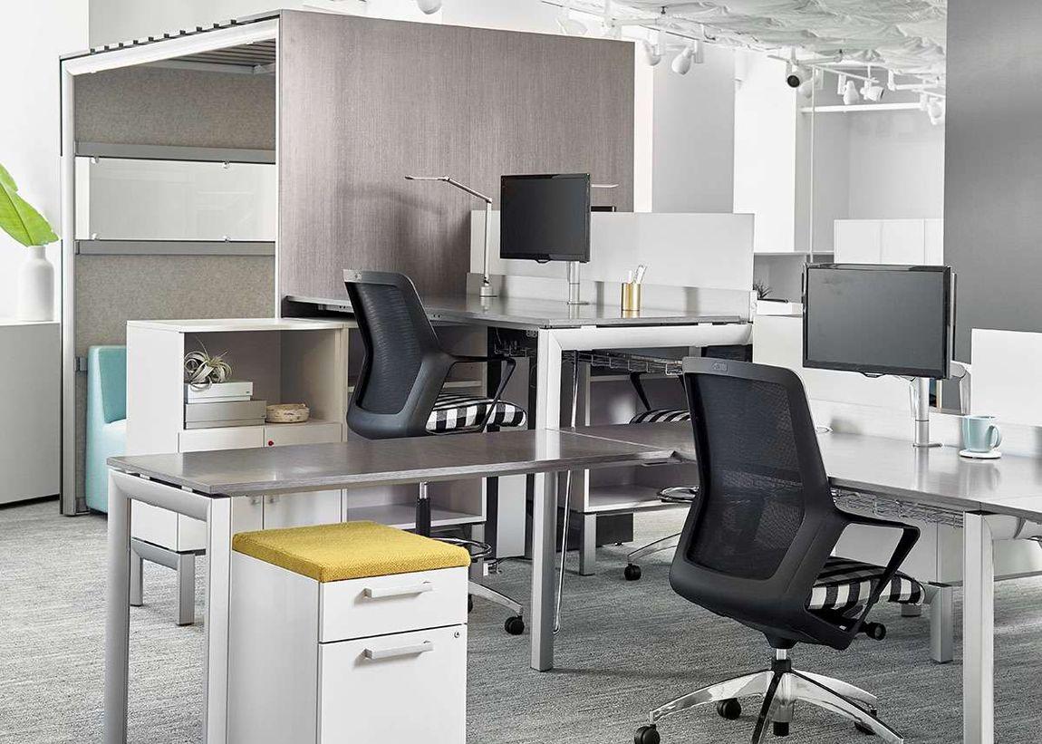 Ergonomic office chairs at ergonomic workstation