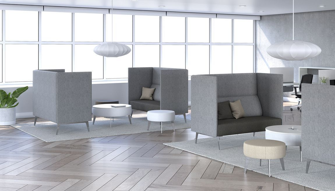 grey acoustic furniture