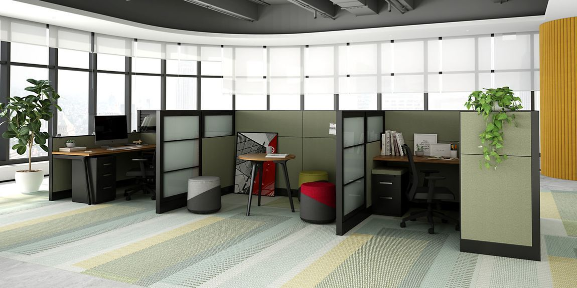 new office furniture with screens