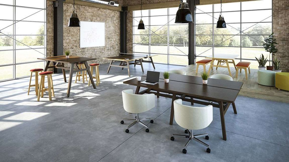 Modern workspace with contemporary furniture