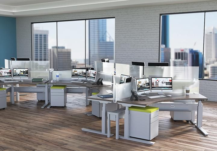 Modular laminate workspace with laminate cabinets