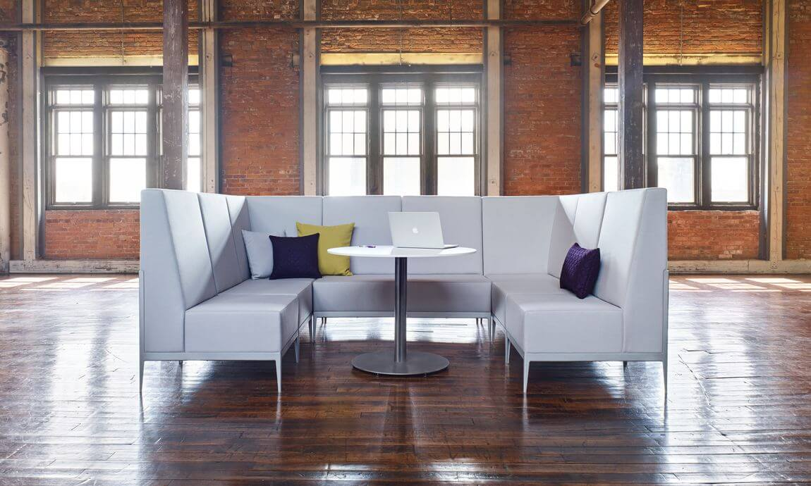 gray collaboration couch