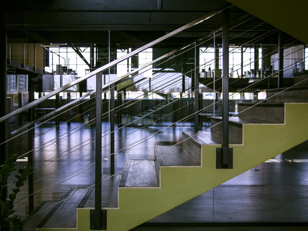 modern office staircase