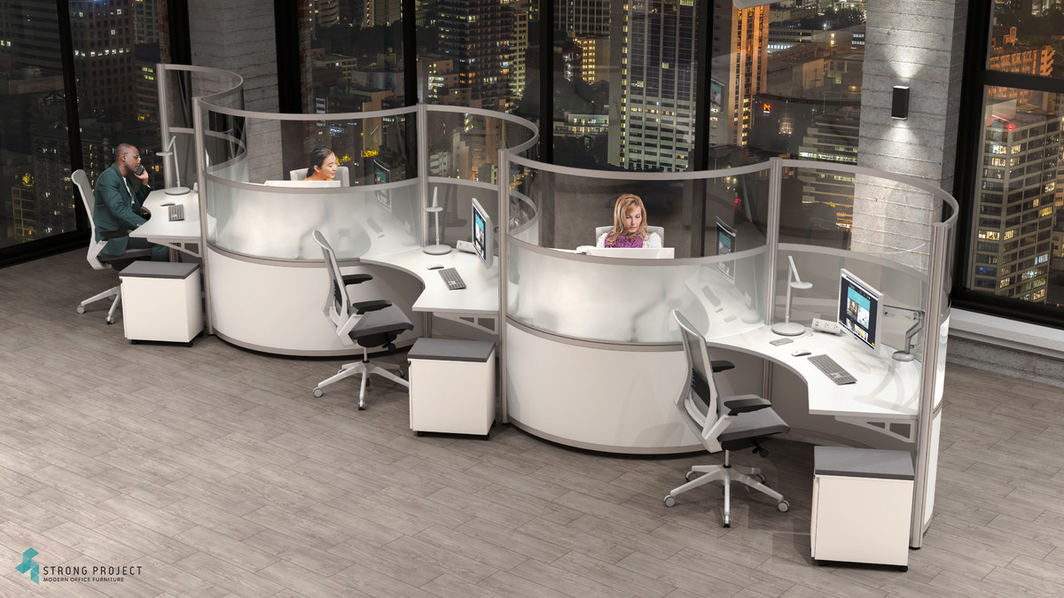 curved cubicle design