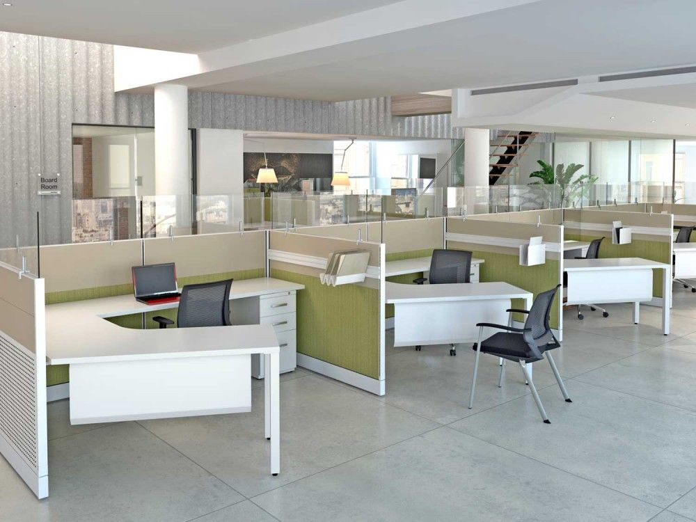 add a protective social distancing barrier screen to desks