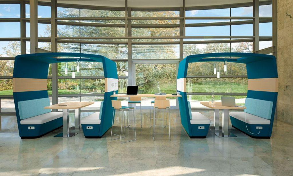 modern office designs- community work stations