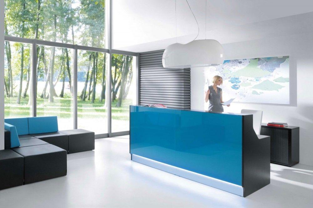blue modern office furniture design