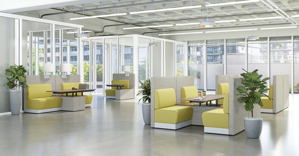 planten in een modern kantoor