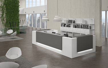 Modern Reception Desks Desk Furniture Curved
